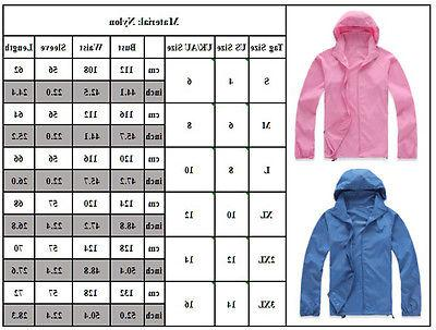 Womens Jogging Hiking Waterproof Windproof Lightweight