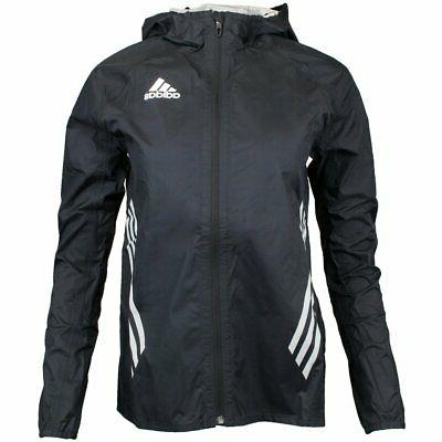 adizero performance rain jacket black mens size