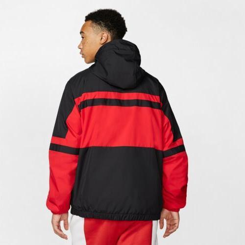 Nike Woven Black White Red Half Zip
