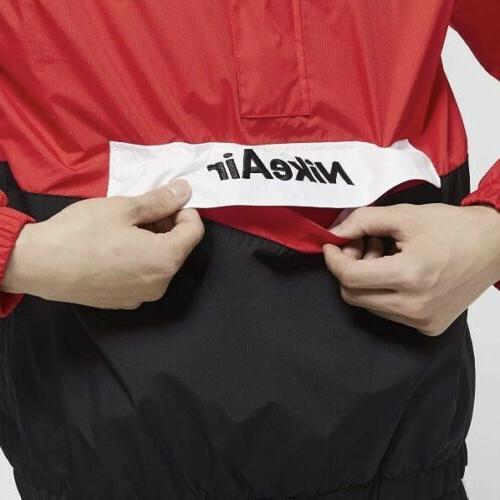 Nike Air Woven Jacket Black Zip Pullover Rain