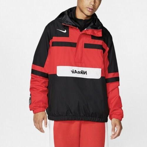 air woven jacket men size xl black