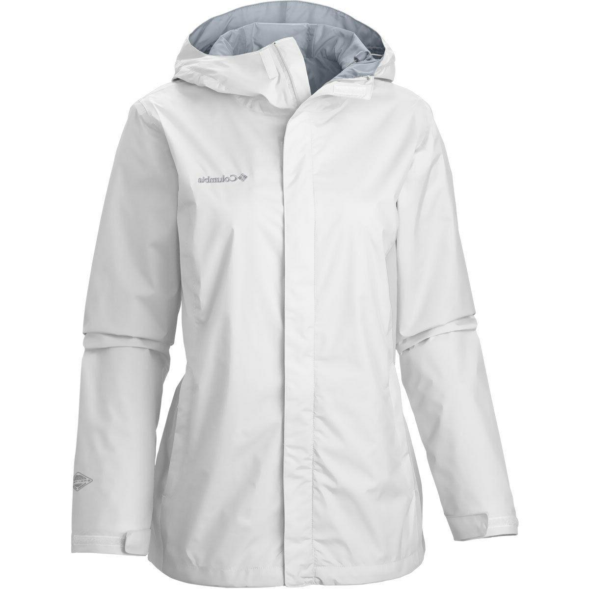 Columbia Arcadia II Rain Jacket Women's 1X  Hooded White/Whi