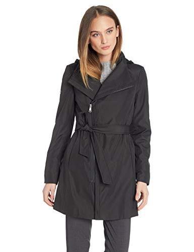asytmetrical zip rain coat