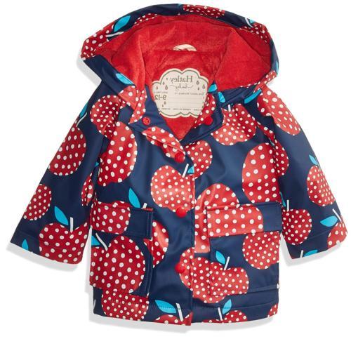 baby girls printed raincoats polka dot apples
