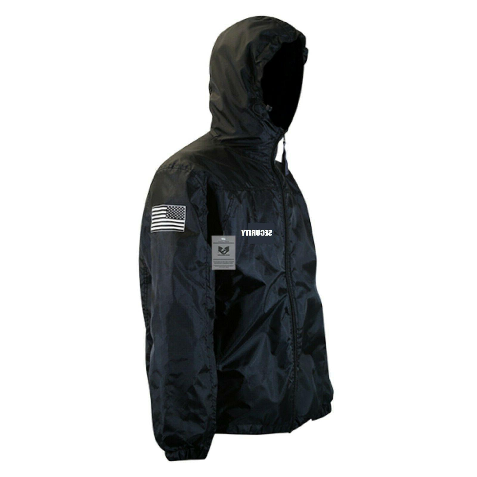 Black Guard Windbreaker Zipper Jacket USA