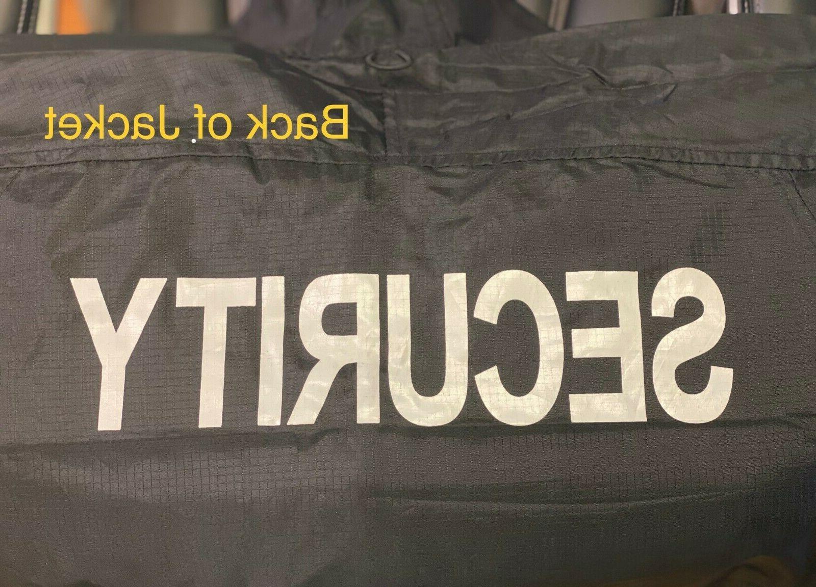 Black Guard Windbreaker Jacket Coat USA Flag