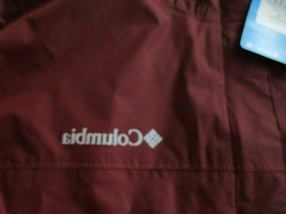 BNWT Columbia Watertight Rain Jacket Men's, Burgundy,