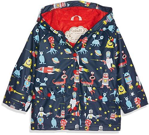 boys little printed raincoats space aliens 8