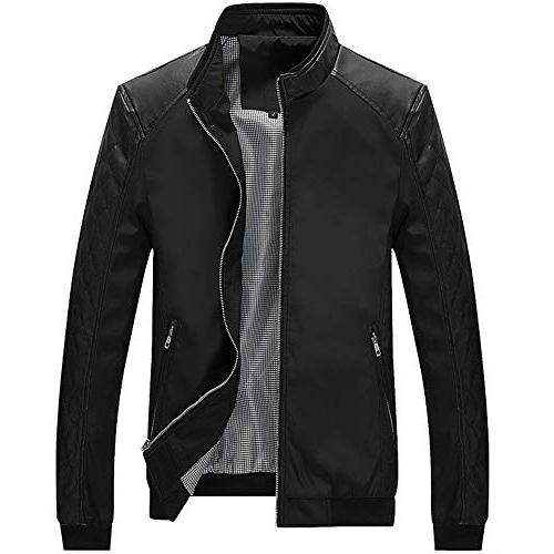 casual pocket button thermal leather jacket fashion