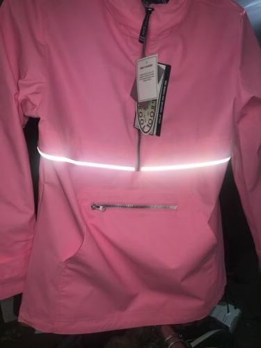 Charles River Women's Rain Pullover Neon Size Small New