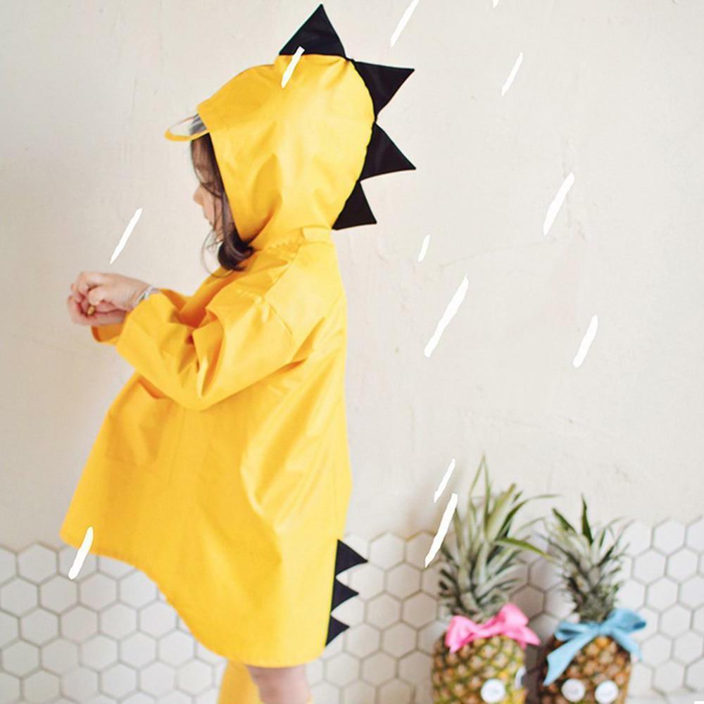 Children Dinosaur Rain Coat Waterproof Polyester For Boy Gir