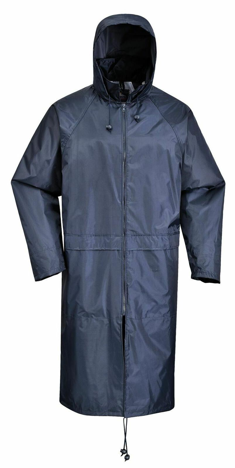 Portwest Long Rain Coat Zip Waterproof S438