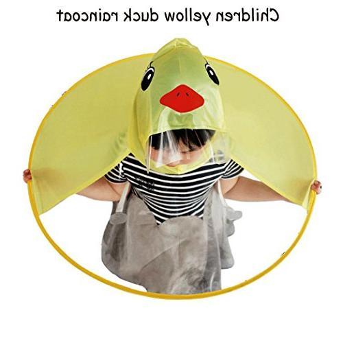 Sameno Rain UFO Yellow Hat Raincoat