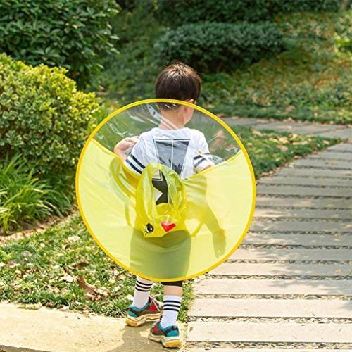 Sameno UFO Yellow Children Hat Magical Hands Raincoat