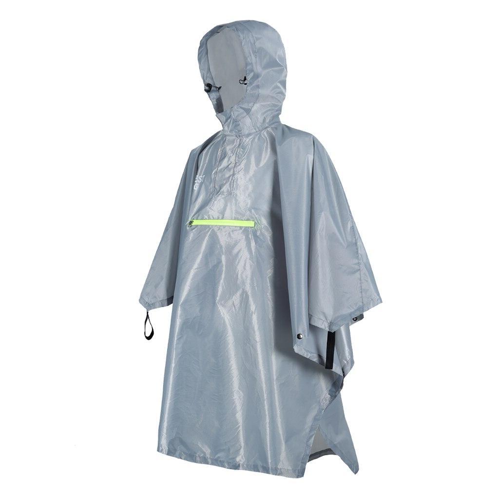 Emergency Outdoor <font><b>Rain</b></font> Poncho Coat Camping Strip Waterproof Hooded