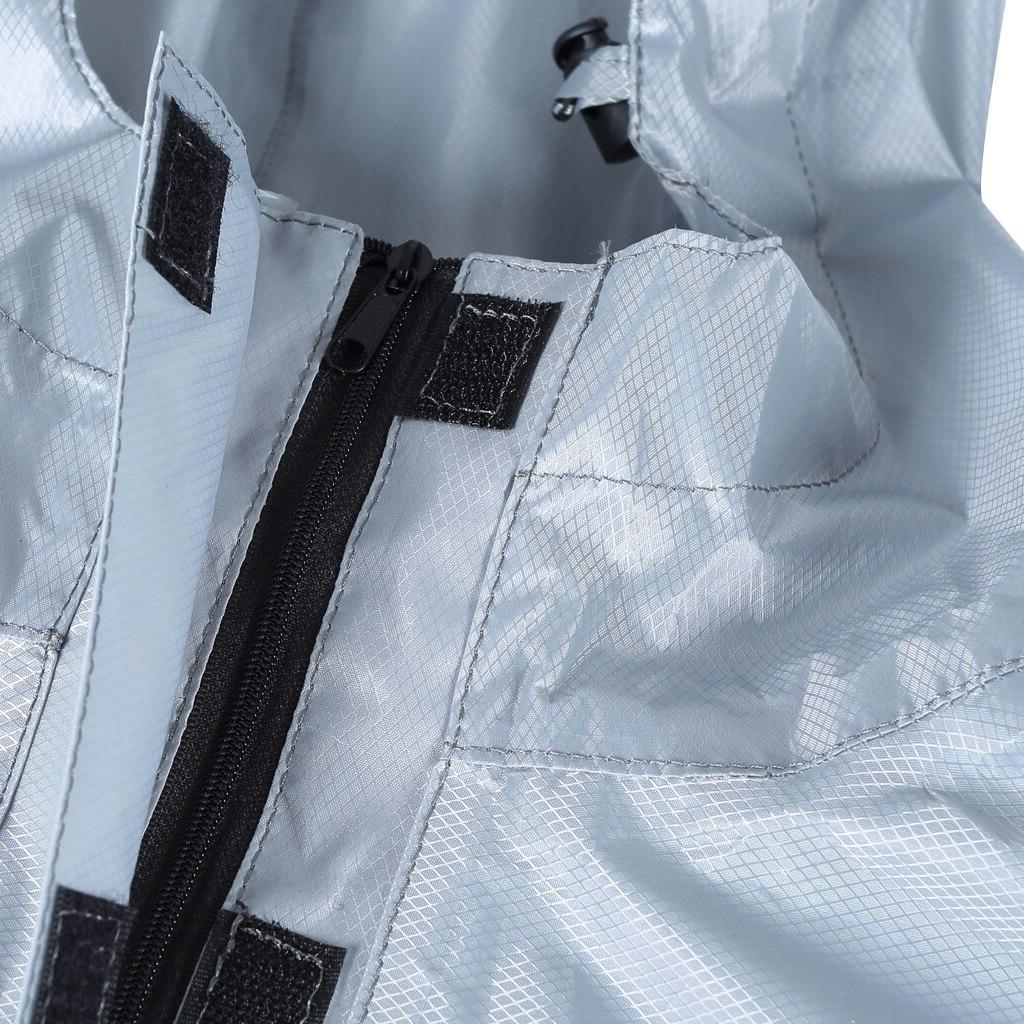 Emergency <font><b>Lightweight</b></font> Poncho Cycling Outdoor <font><b>Rain</b></font> Poncho Camping Reflective Strip Waterproof Hooded