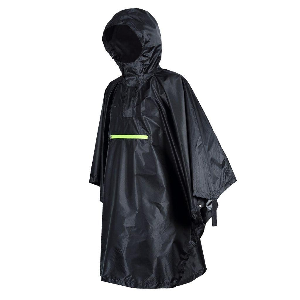 Emergency Poncho Outdoor <font><b>Rain</b></font> Proof Poncho Coat Reflective Strip Waterproof Hooded