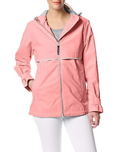 Charles Apparel New Rain Jacket, Coral M