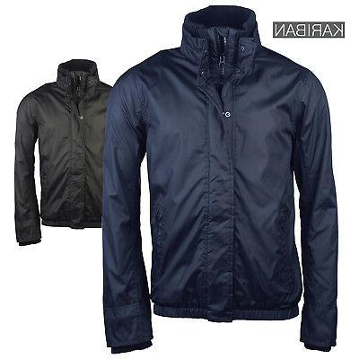 Kariban Fleece Lined Men's Outerwear Rain Jacket Outdoor Eve
