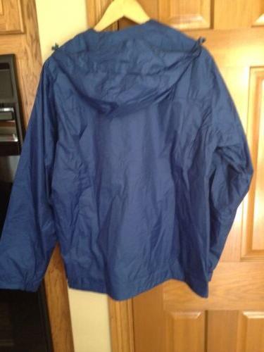 Gioberti Men's Rain Jacket Navy New