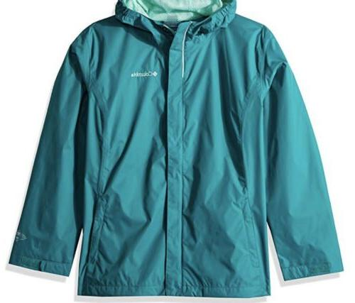 Columbia Girls Size XXS//XS//S Waterproof Arcadia Jacket Black Lightweight Hooded