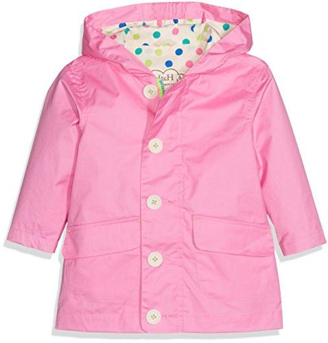 girls little cotton coated raincoats colorful polka