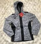 GIRLS: The North Face Madison Rain Jacket, Black & Gray - Si