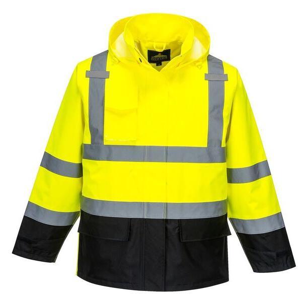 hi vis contrast rain jacket size s