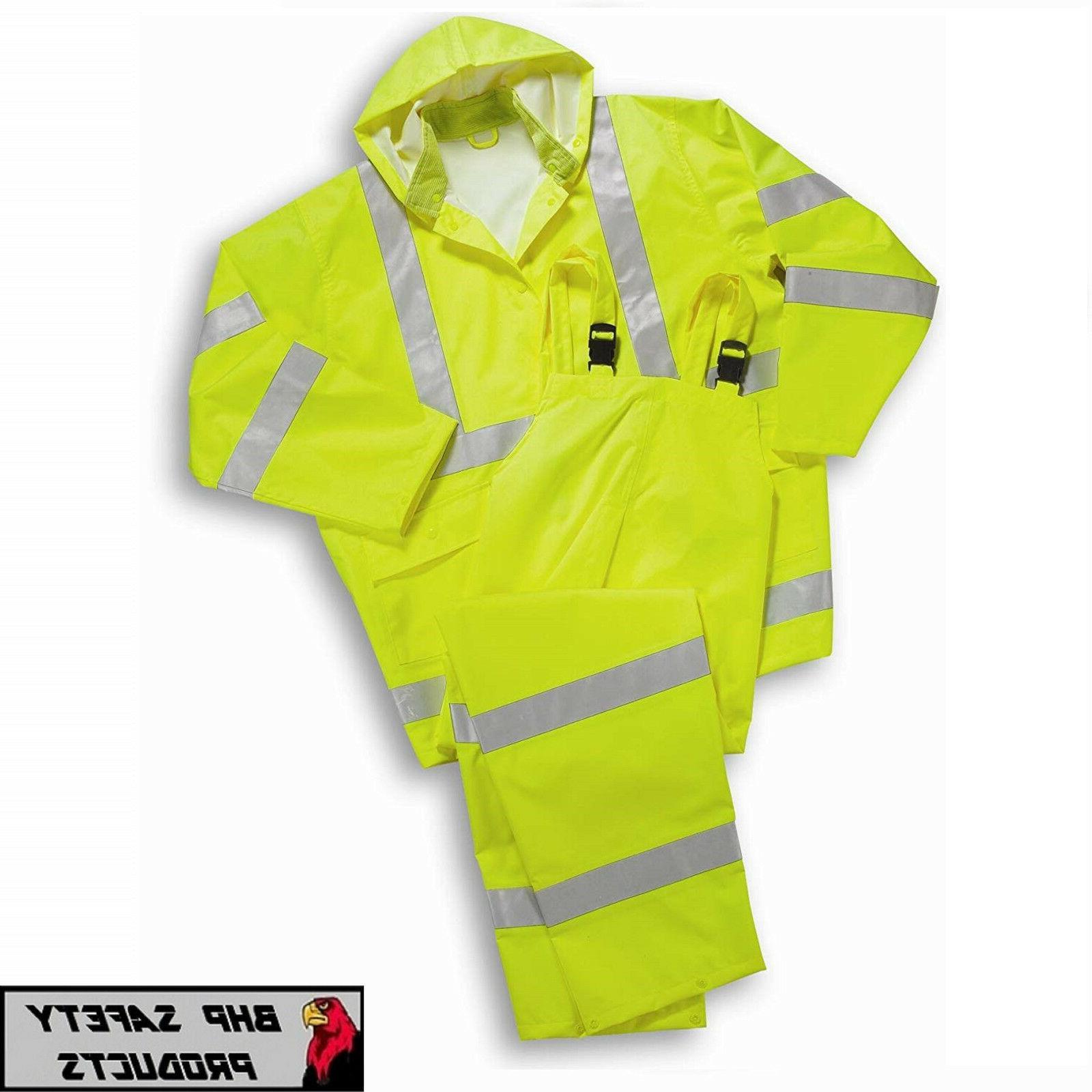 Hi-Vis Rain Jacket and