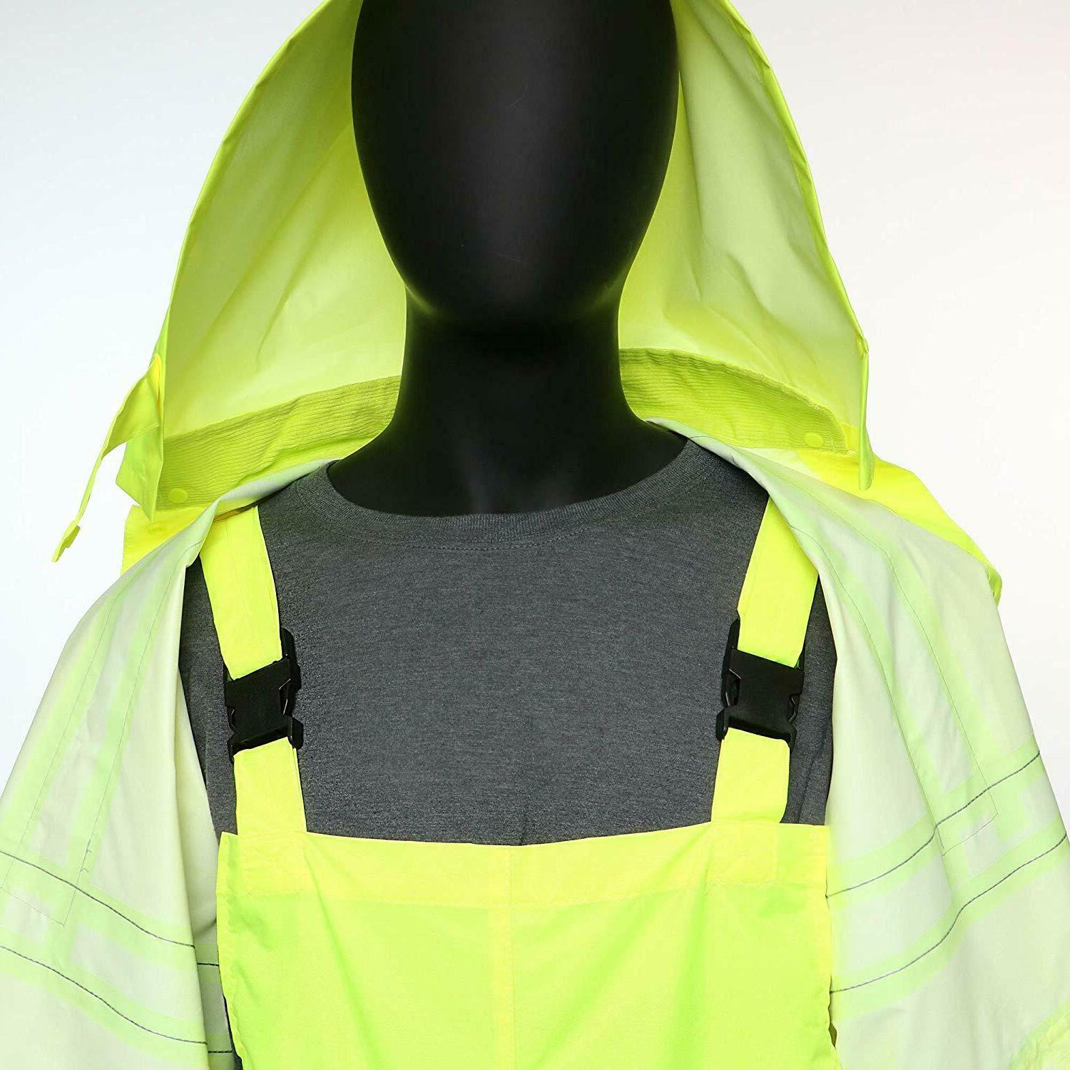 Hi-Vis Class 3 Safety Suit Reflective Rain and Overalls