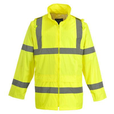 hi vis rain waterproof jacket mens safety