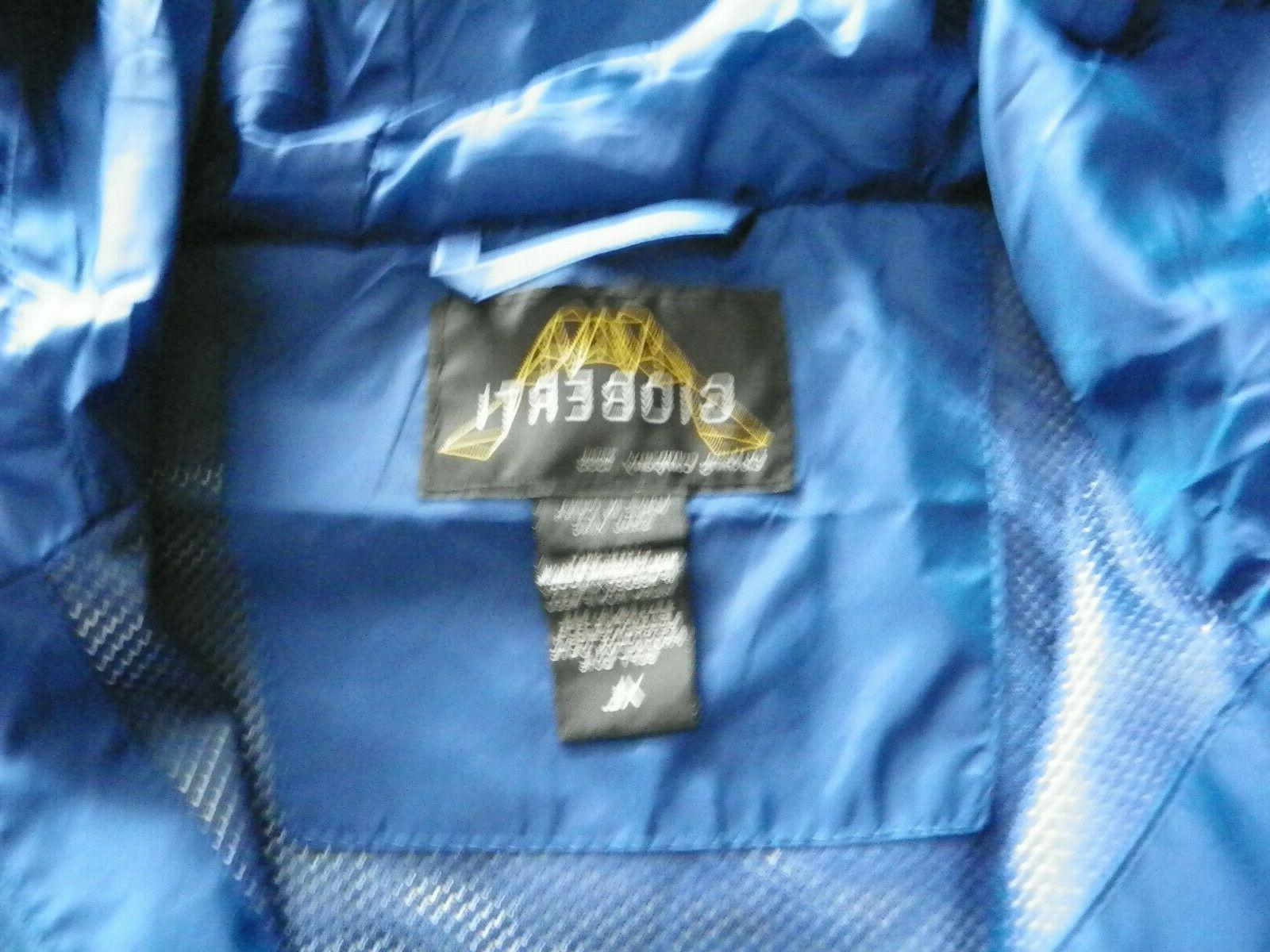 Gioberti Hooded Rain Jacket Blue Sz XL With ND