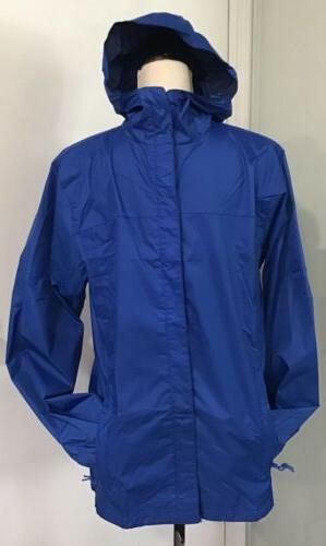 hooded waterproof rain jacket mens royal blue