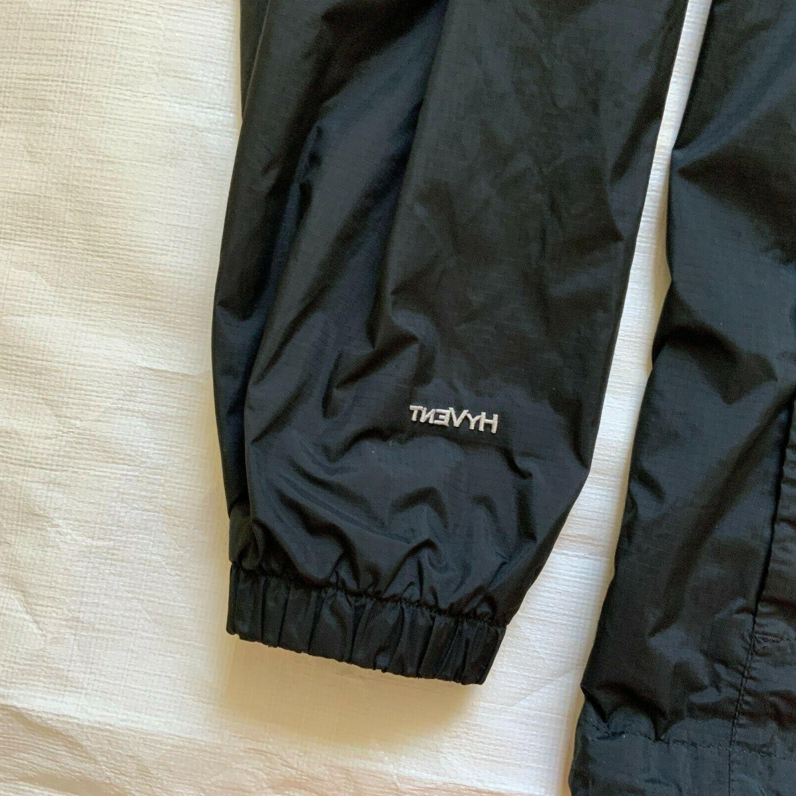 THE NORTH FACE HYVENT Windbreaker Hoodie Jacket Black Size Medium