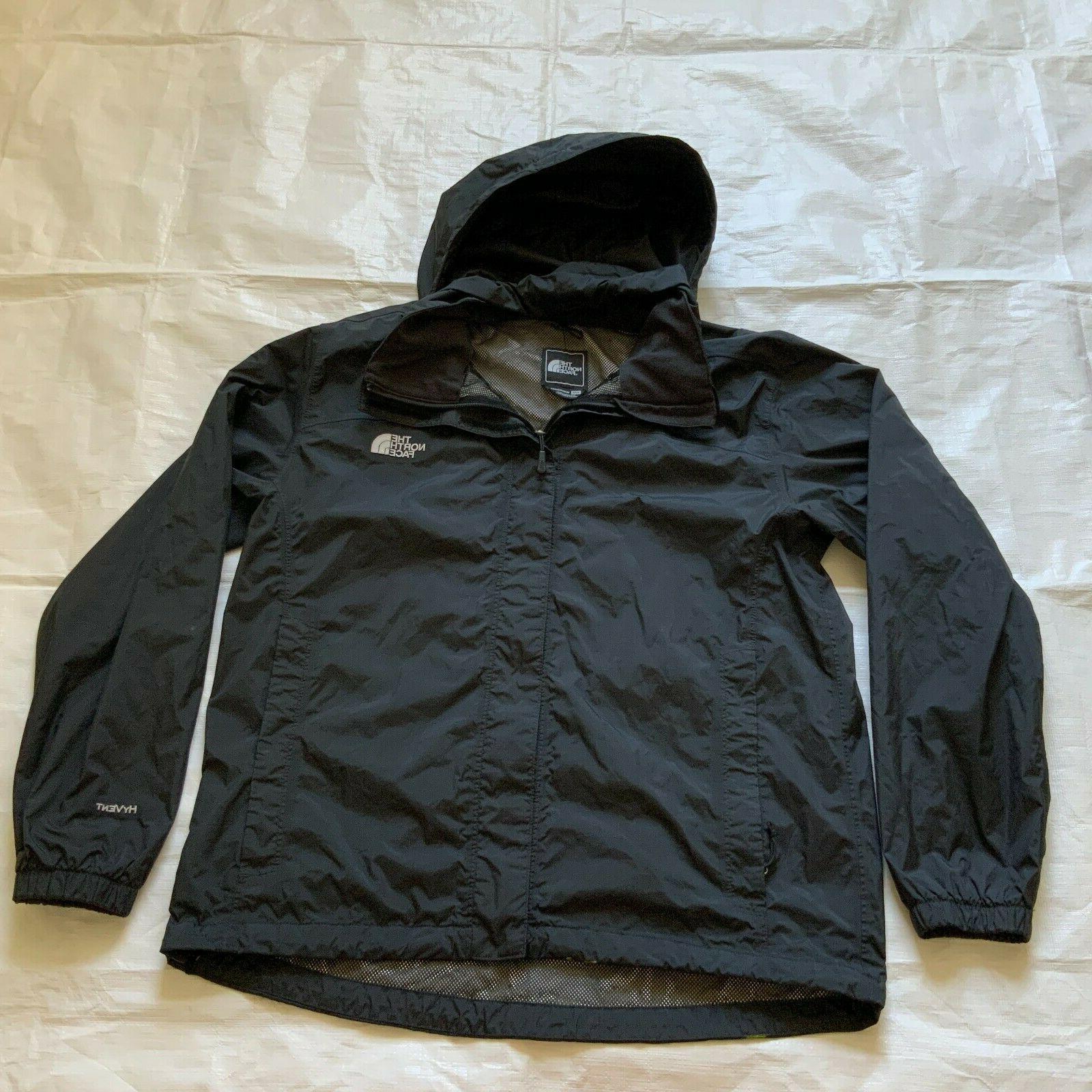 hyvent windbreaker hoodie zip rain jacket black