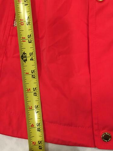 Calvin Jacket Small Wind Rain $159 Gold