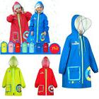 Kids Boys Girls Outdoor Waterproof Hiking Raincoat Rain Ponc