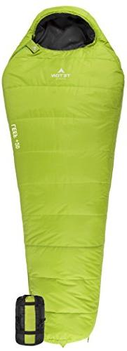 TETON Sports LEEF Lightweight Adult Mummy Sleeping Bag; Grea