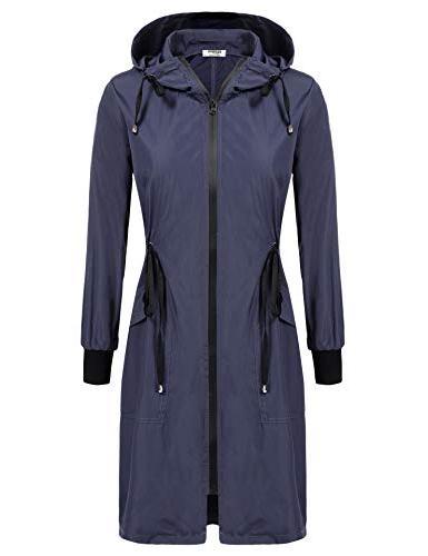 Zeagoo Long Women Hooded Lightweight Rain