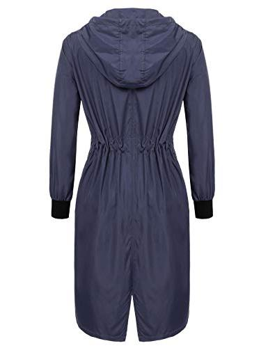 Zeagoo Long Raincoat Rain Blue,Small