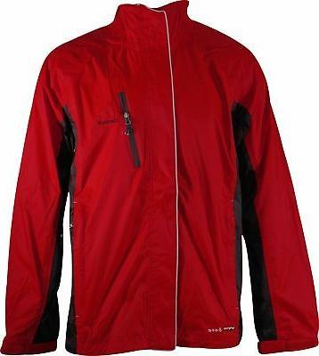 lotar mens rain jacket red