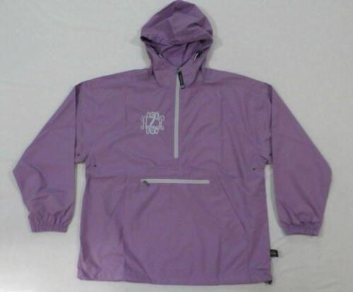 marleylilly monogrammed ras rain jacket lilac hm7