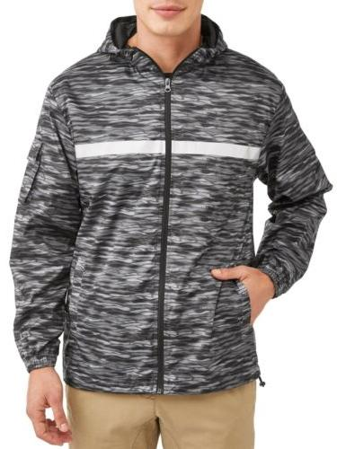 men s full zip rain jacket windbreaker