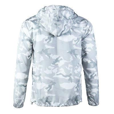 Beautiful Giant Hood Lightweight Windbreaker White Camo