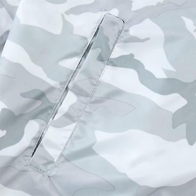 Beautiful Giant Men's Lightweight Windbreaker Jacket White Camo