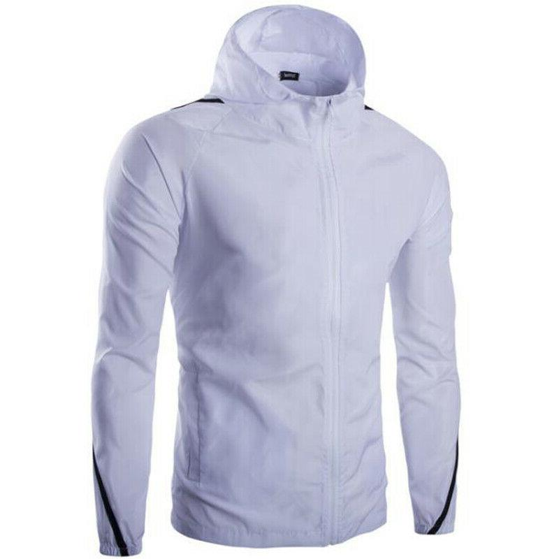 Men's Lightweight Windbreaker Windproof Hoodie