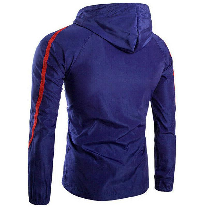 Men's Hooded Windproof Rain Jacket Hoodie Coat
