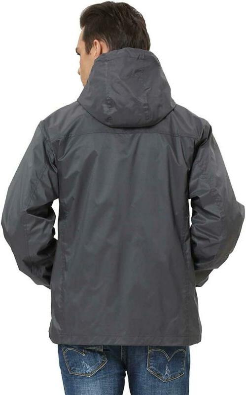 Ilovesia Men'S Hooded Rain Jacket G2