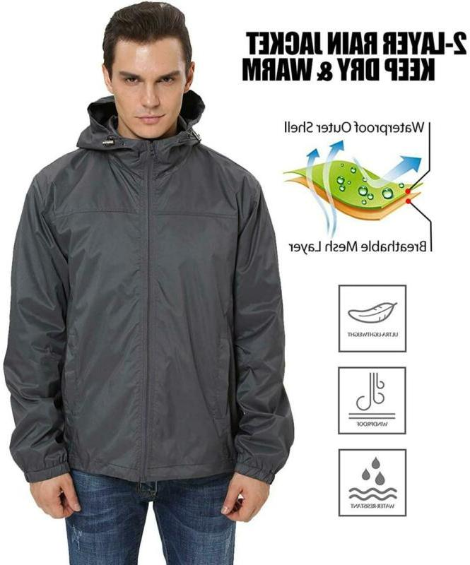 Ilovesia Men'S Lightweight Rain Raincoat G2