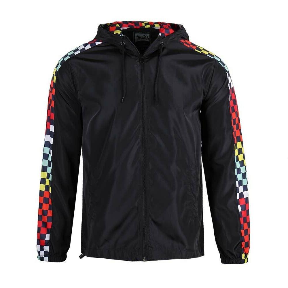 men s lightweight windbreaker rain jacket